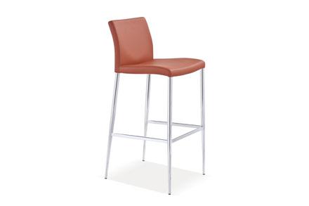 镀铬金属框架,方形环凳脚踏尺寸:50 L * 44.5 W * 101 H cm | SH: 75.5 cm | NW: 7 KG
