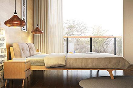 实木系列的家具组合起来自然儒雅,清新别致,让人舒适放松,展现平凡生活中细腻平静的点滴。