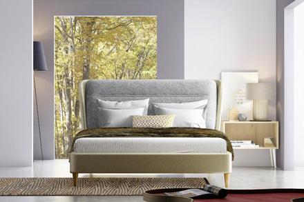 品味生活 双重舒适是此卧房的重点,正如双层软包床屏,层层叠加带来的稳固与柔软。中性驼灰色系让卧室家居空间宁和,简洁素雅才有好休息。